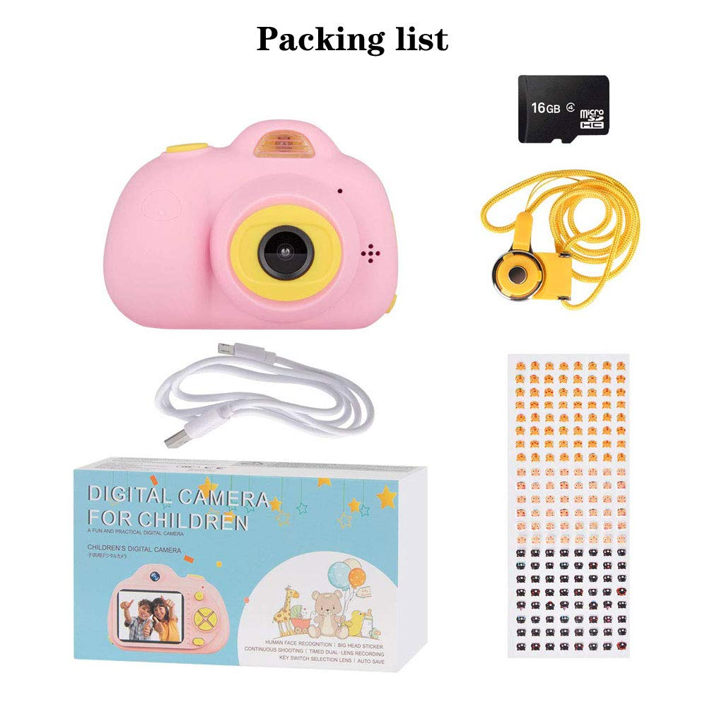 Balee Kids Digital Camera 2 inch Screen Digital Video Camera Creative DIY Selfie Camera for Kids with 16GB Memory SD Card (Pink) by Balee (Image #7)