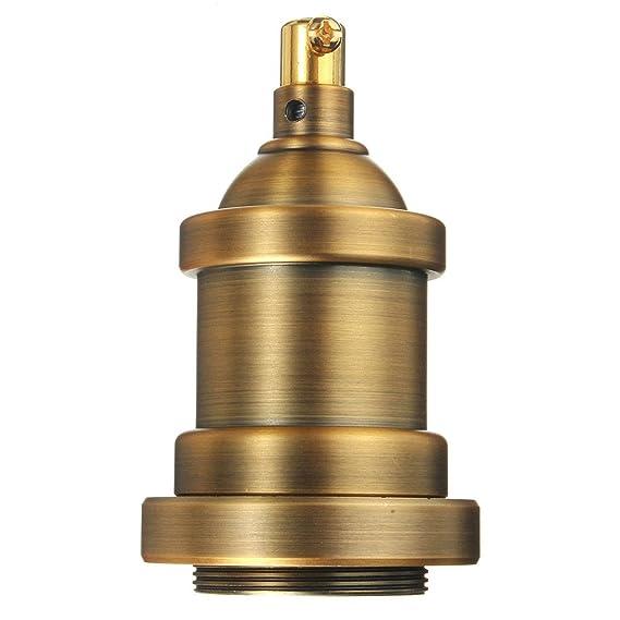 Kingso Lampenfassung E27 Vintage Edison Halter Retro Kupfer