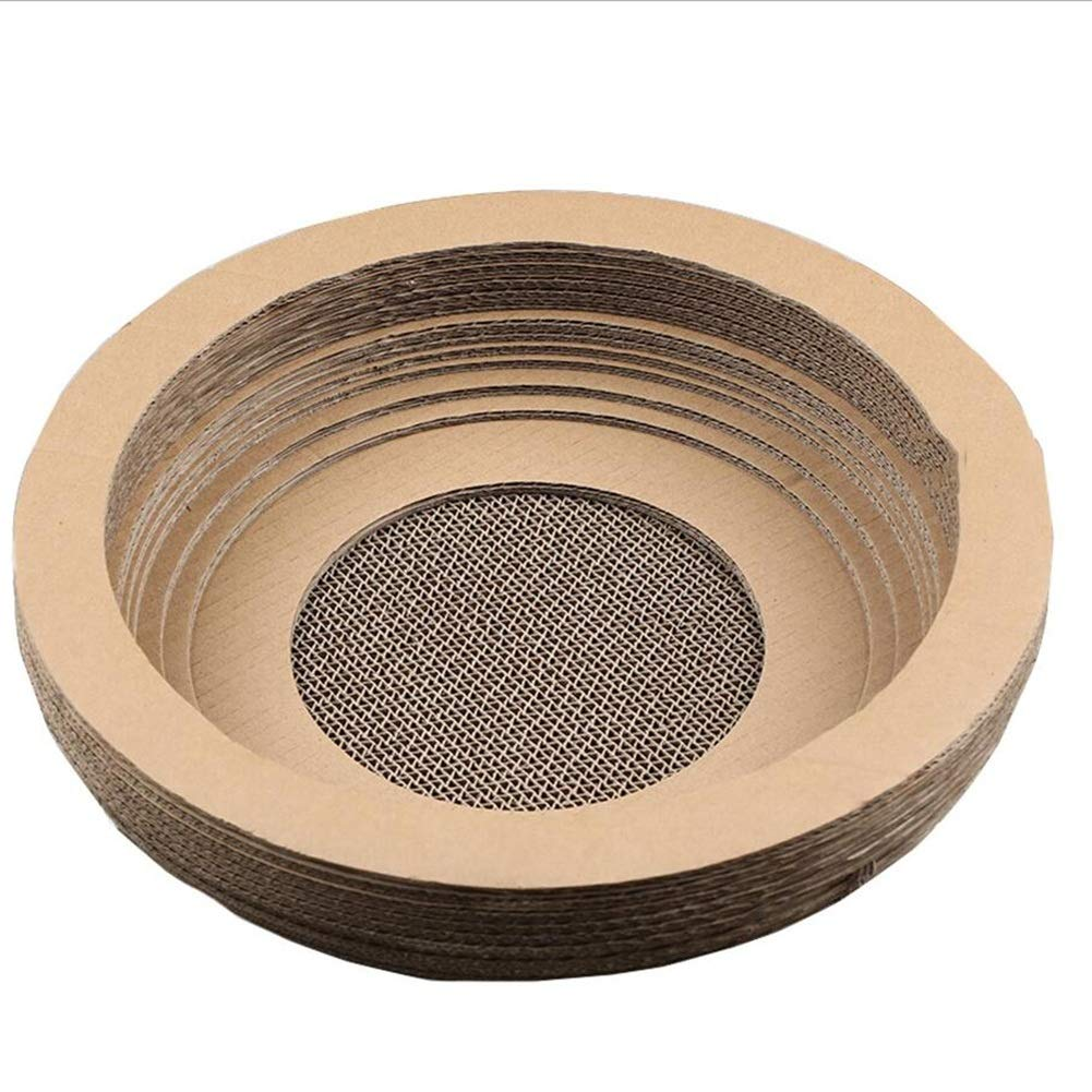 BROWN Pet Nest Pet Sofa Pet Bed Cat Nest Kennel Dog Nest Cat Kennel Bowl Cat Claws Grinding Plate Corrugated Paper Haiming (color   Brown)