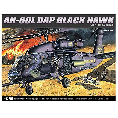 Academy 12115 AH-60L DAP BLACK HAWK Helicopter Plastic Model Kit