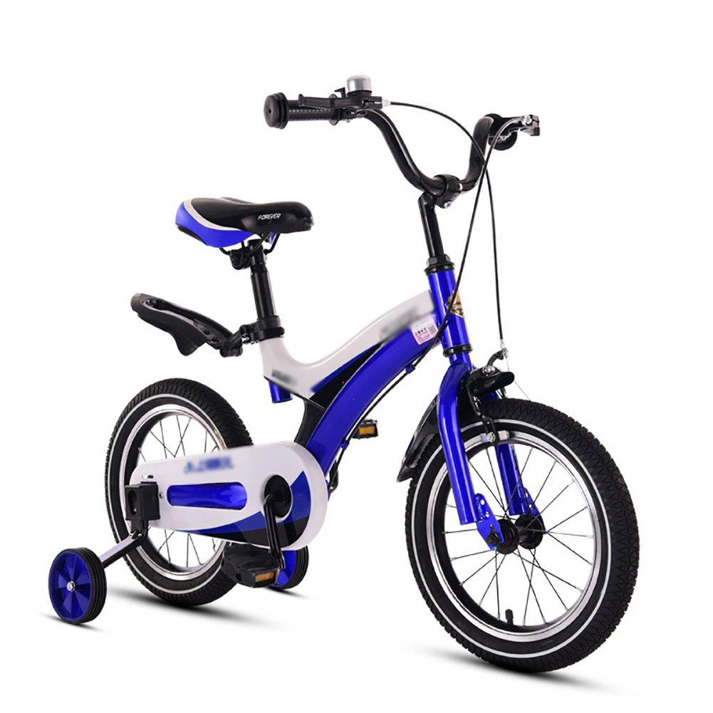キッズ子供バランスバイクの自転車ベビーBikes 3 – 10年古い赤ちゃん男の子女の子自転車12 14 16 18インチブルーイエローレッドピンク B07DYJ147Q 16 inch|ブルー ブルー 16 inch