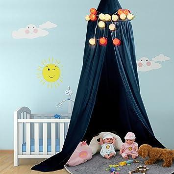 Betthimmel Baldachin Aus Baumwolle Leinwand Deko Baldachin Für Kinderzimmer  Babybetthimmel Auch Als Mückenschutz Gute Luftzirkulation,