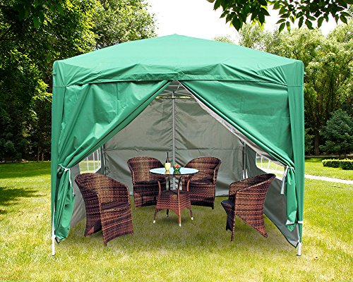 Party Wedding Tent Gazebo with Silver Protective Layer Frame /& Canopy /& 4 Sides /& Carringbag Outdoor Marquee Tent Black Greenbay 2.5x2.5m Pop Up Gazebo