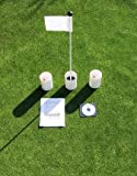 Practice Putting Green - Natural or Synthetic - Accessory Kit - 3 Cups & White Marker Flag