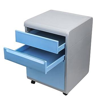 cajonera de oficina, archivador con cajones de ABS cajones de almacenamiento de plástico para oficina, sala, escuela.