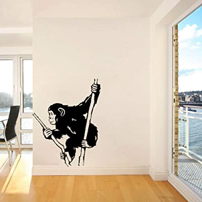 Wall Stickers Murals Monkey On Branch Wall Vinyl Decal Funny Animals Wall Sticker Home Interior Bedroom Decor Wall Decor for Kids Room Baby 56X73Cm: Kitchen & Dining