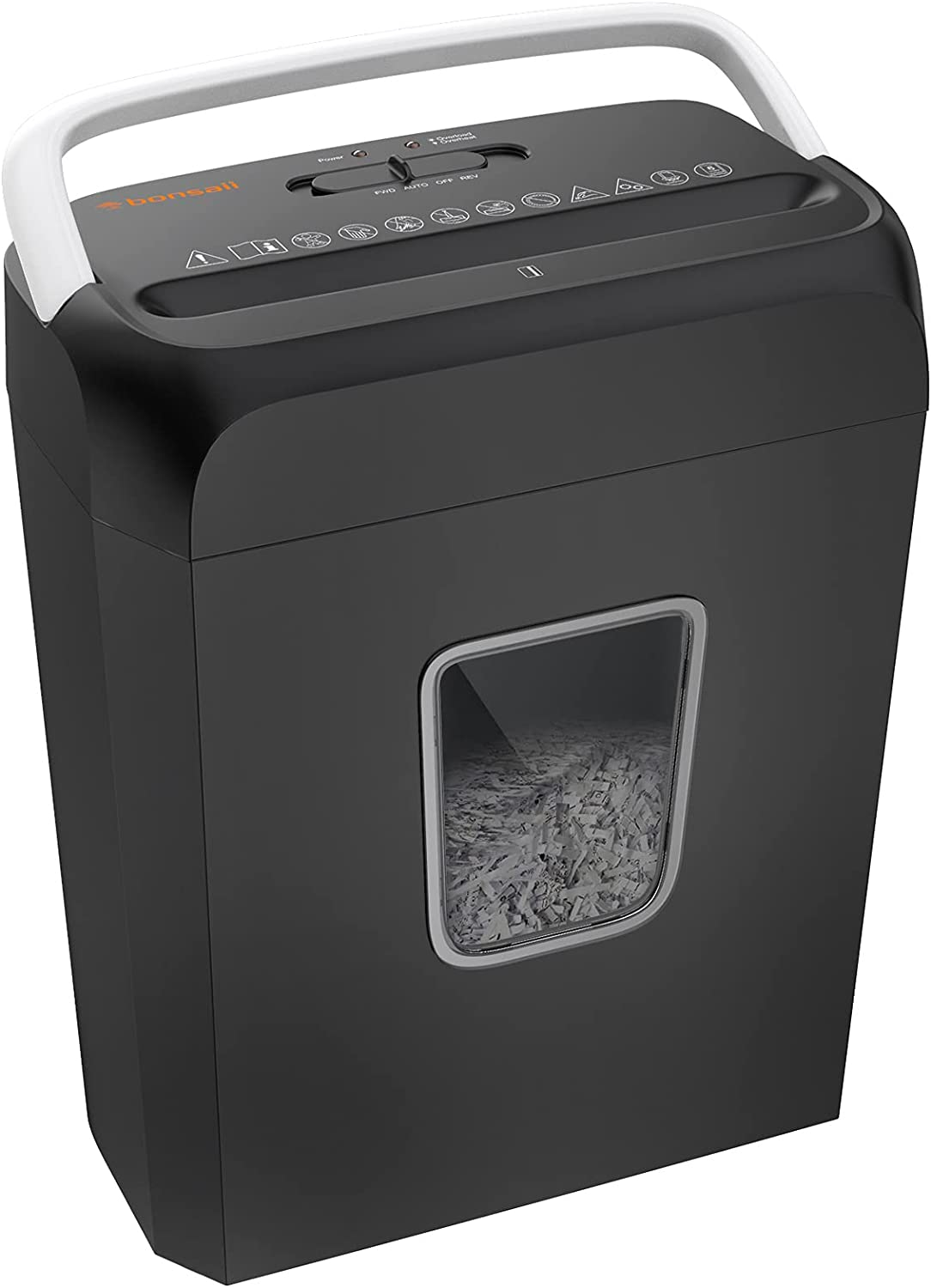Shredder for Home, Bonsaii 6 Sheet Cross Cut Paper Shredder for Small Home Office Use, Portable Handle Design with 3.4 Gallons Wastebasket