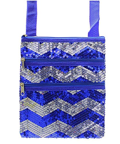 Cross Blue Chevron Handbag Hipster Body Royal Stripe Sequin qSw0zd
