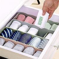 Flipzon Multipurpose Storage Drawer Socks Undergarments Organizer Set of 4, Plastic, (Colour May Vary)