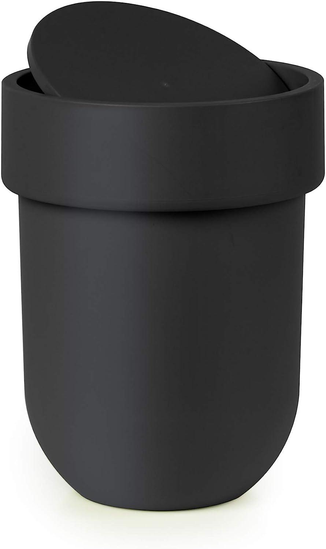 Umbra Touch Basura para baño, negro, Cubo con tapa: Amazon.es: Hogar