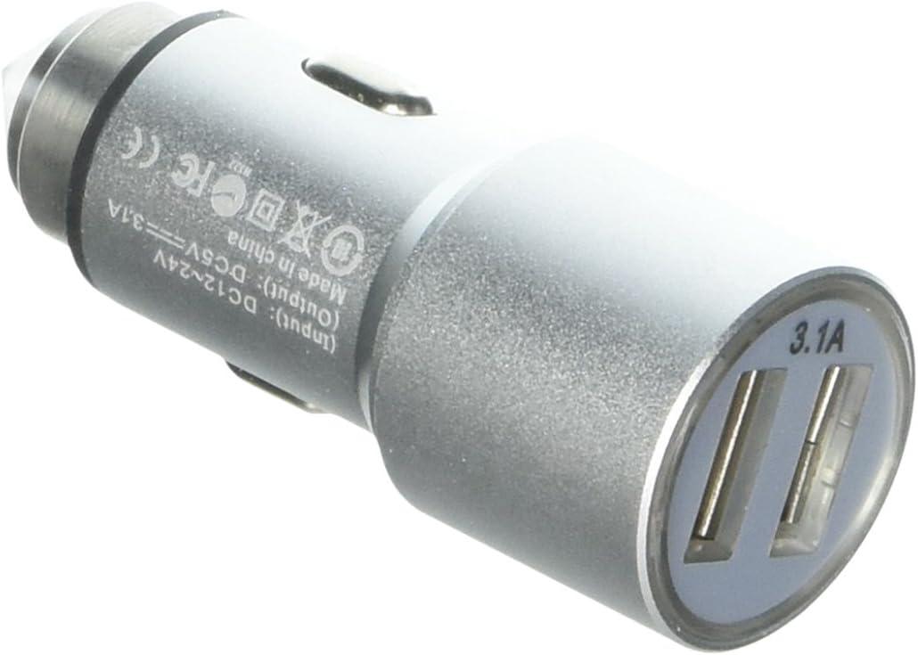 Xavier 3.1-amp Dual Car Charger - Silver