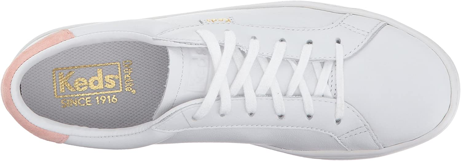 Keds Ace Leather, Basket Femme White Blush