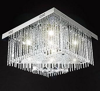 farbwechsel led kristall deckenleuchte kronleuchter deckenlampe leuchte lster fr wohnzimmer 40x40cm 5x g9 inkl led - Led Beleuchtung Wohnzimmer Farbwechsel