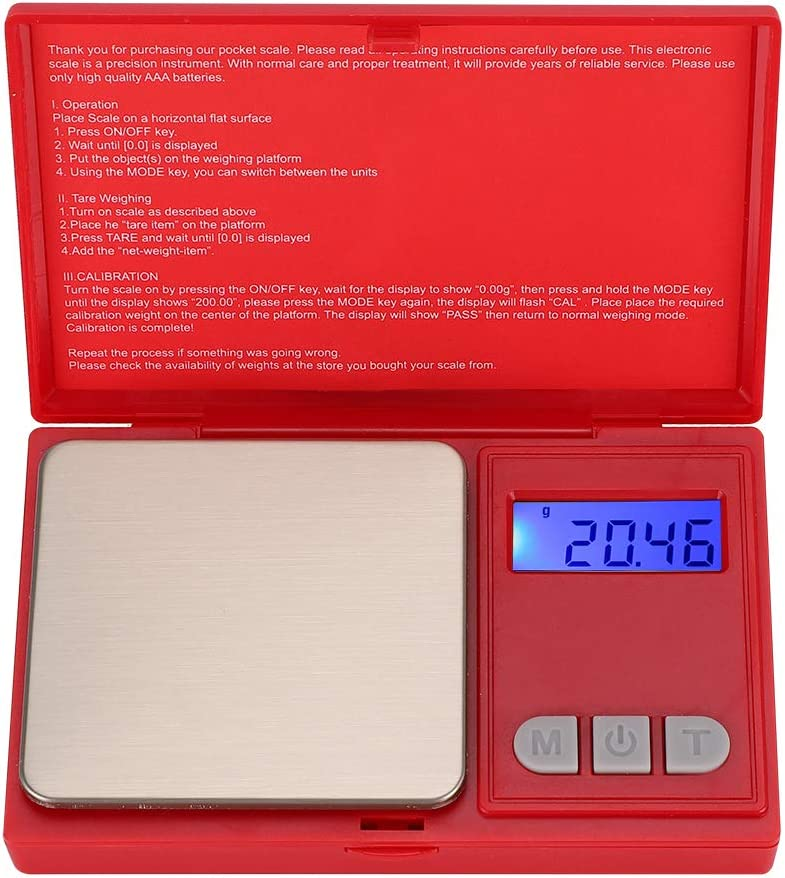 Digital Scale, High Precision Electronic Scale Portable Mini Pocket Scale for Household Kitchen Jewelry Drug Coffee Food Vegetables Fruits Weighting