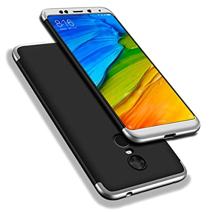 best sneakers 3b736 3bc4f Redmi 5 Plus Case, WindCase 360° Full Body Coverage Protection Hard PC 3 in  1 Detachable Protective Case Cover for Xiaomi Redmi 5 Plus Black Silver +  ...