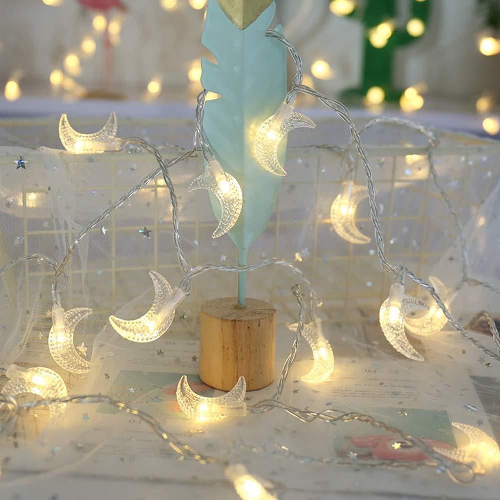 MyBuddy Moon String Lights,Outdoor LED String Lights 3m Set of 20 LED for Wedding Garden Decoration,Party Festival Lights Christmas Thanksgiving Decor