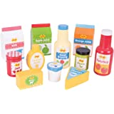 Bigjigs Toys Wooden Chilled Groceries - Pretend Role Play Food