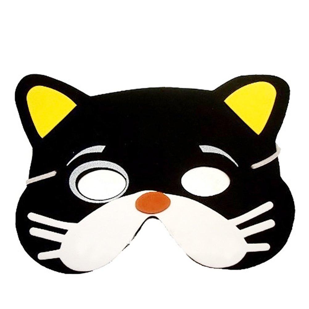Zuf/ällige Muster TOYMYTOY 12 Pcs Tiermasken Kinder Halbmasken Party Kindermasken mit Elastischen Seil