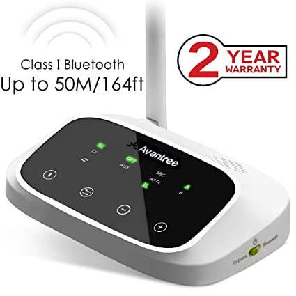 Avantree Oasis 50M Largo Alcance Transmisor y Receptor Bluetooth para TV, AptX de Baja latencia