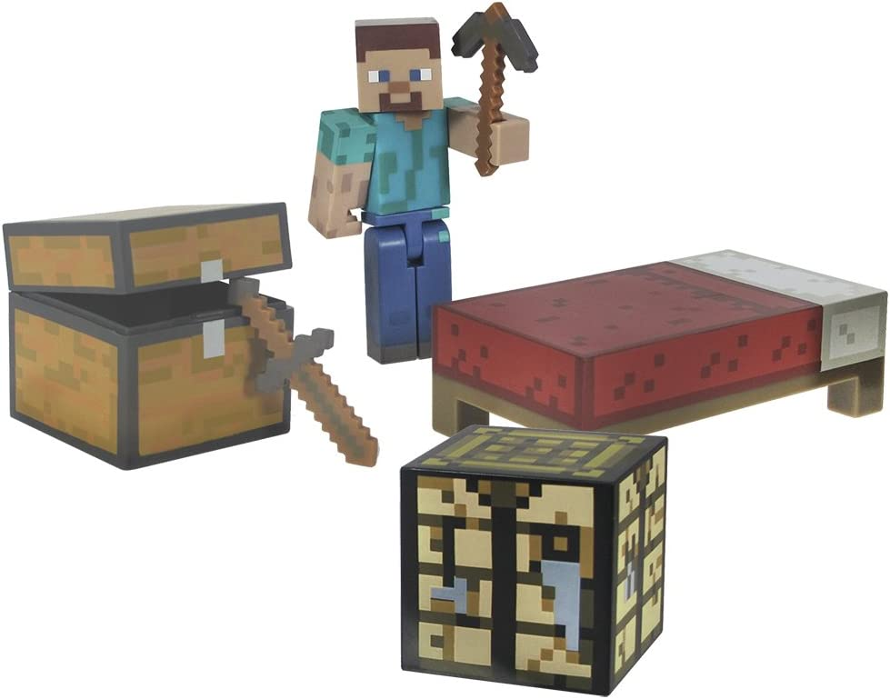 Minecraft - Pack de Figuras Supervivientes (Giochi Preziosi 16450): Amazon.es: Juguetes y juegos