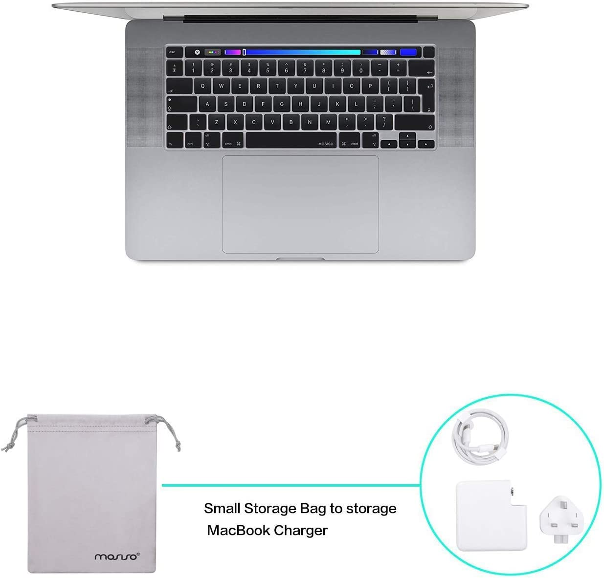 Noir MOSISO Coque Compatible avec MacBook Pro 16 Pouces A2141 2019 Version avec Touch Bar /& Touch ID Plastique Coque Rigide /& AZERTY Protection Clavier /& Protecteur d/écran