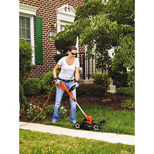 BLACK+DECKER MTE912 12-Inch Electric 3-in-1 Trimmer/Edger and Mower, 6.5-