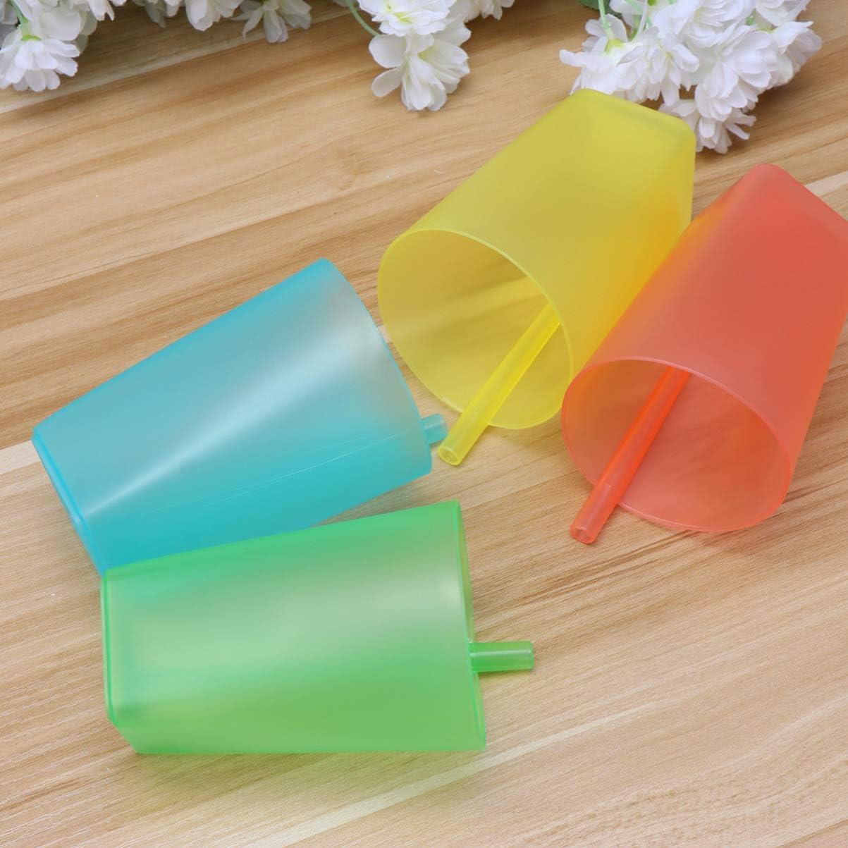 color aleatorio HEALLILY 4 vasos de paja de pl/ástico para ni/ños
