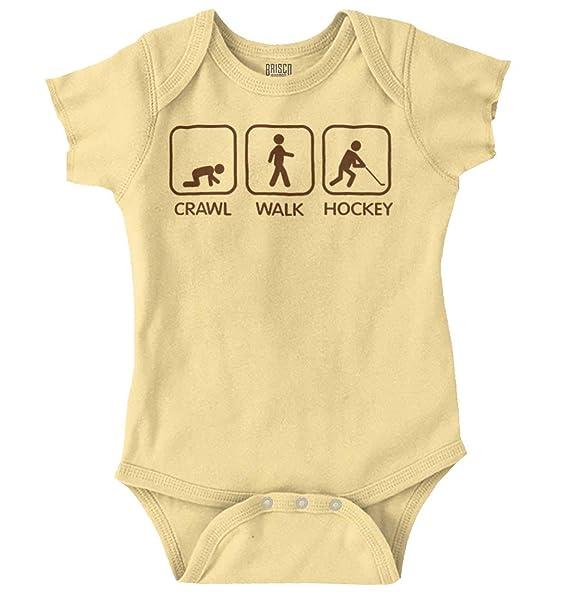 Crawl Walk Ice Hockey Athlete Parents Baby Romper Bodysuit