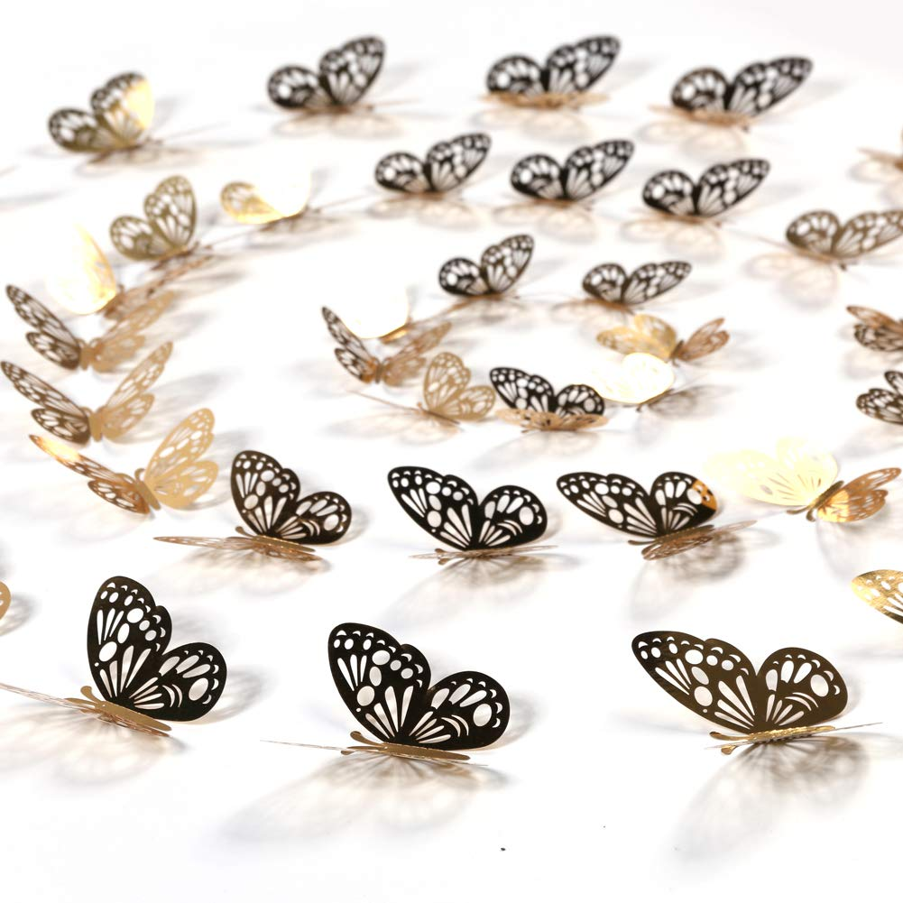 aooyaoo 48pcs//lot 3D Butterfly Kids Wall Stickers Fridge for Nursery Room Decoration SG/_B07FGDDP2V/_US