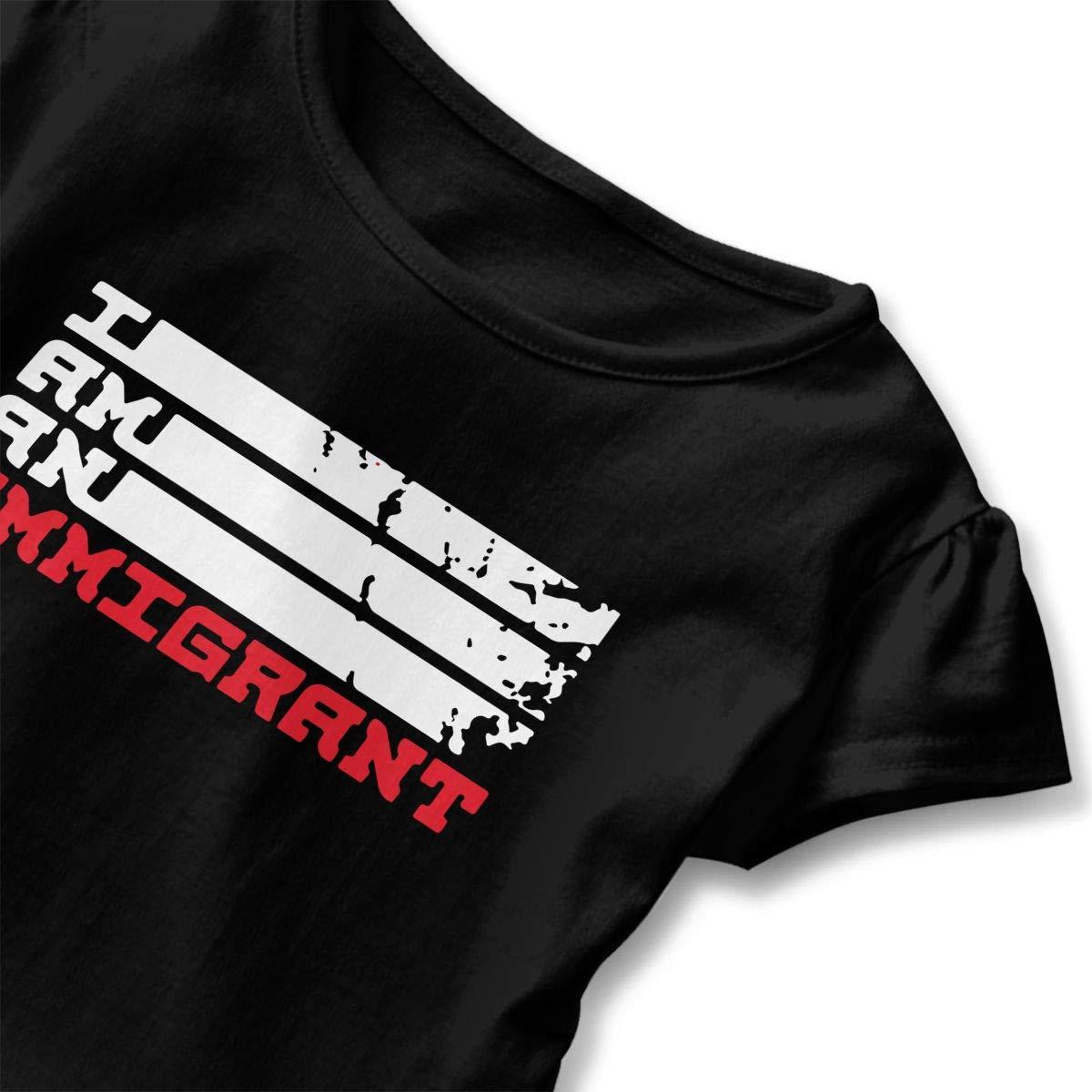 I Am an Immigrant Toddler Baby Girls Short Sleeve Ruffle T-Shirt