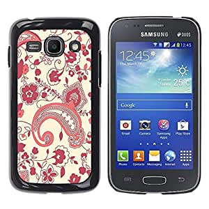 Design for Girls Plastic Cover Case FOR Samsung Galaxy Ace 3 Pattern Floral Kidney Art Wallpaper Purple Red OBBA