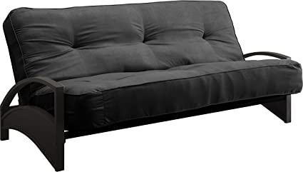 dhp 8 inch independently encased coil premium futon mattress full size black amazon    dhp 8 inch independently encased coil premium futon      rh   amazon