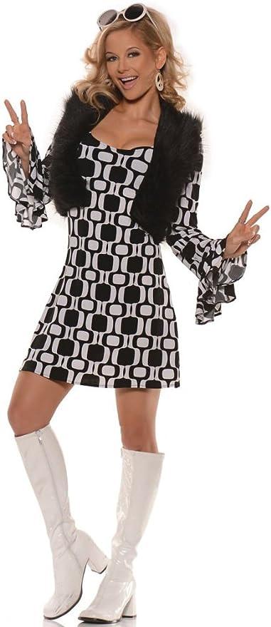 60s Costumes: Hippie, Go Go Dancer, Flower Child, Mod Style Underwraps Adult Hip Chick Sexy Costume  AT vintagedancer.com