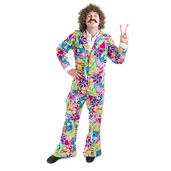 Charm Rainbow Disfraz de Hippie Años 60s para Hombre: Amazon ...