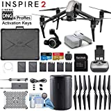 DJI INSPIRE 2 and DJI Goggles Combo with Zenmuse X7 Compact Super 35 3-Axis Gimbal/Camera - CinemaDNG & Apple Pro Res License Keys - Pro Bundle