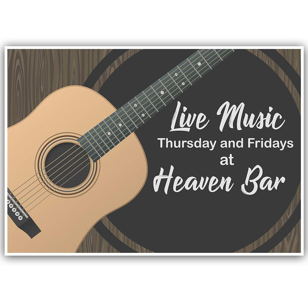Live Music Banner Personalized Decoration