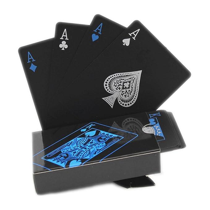 524/5000 Naipes negros Naipes impermeables del póker Naipes profesionales del póker naipes Naipes plásticos Naipes del plástico de calidad superior para su ...