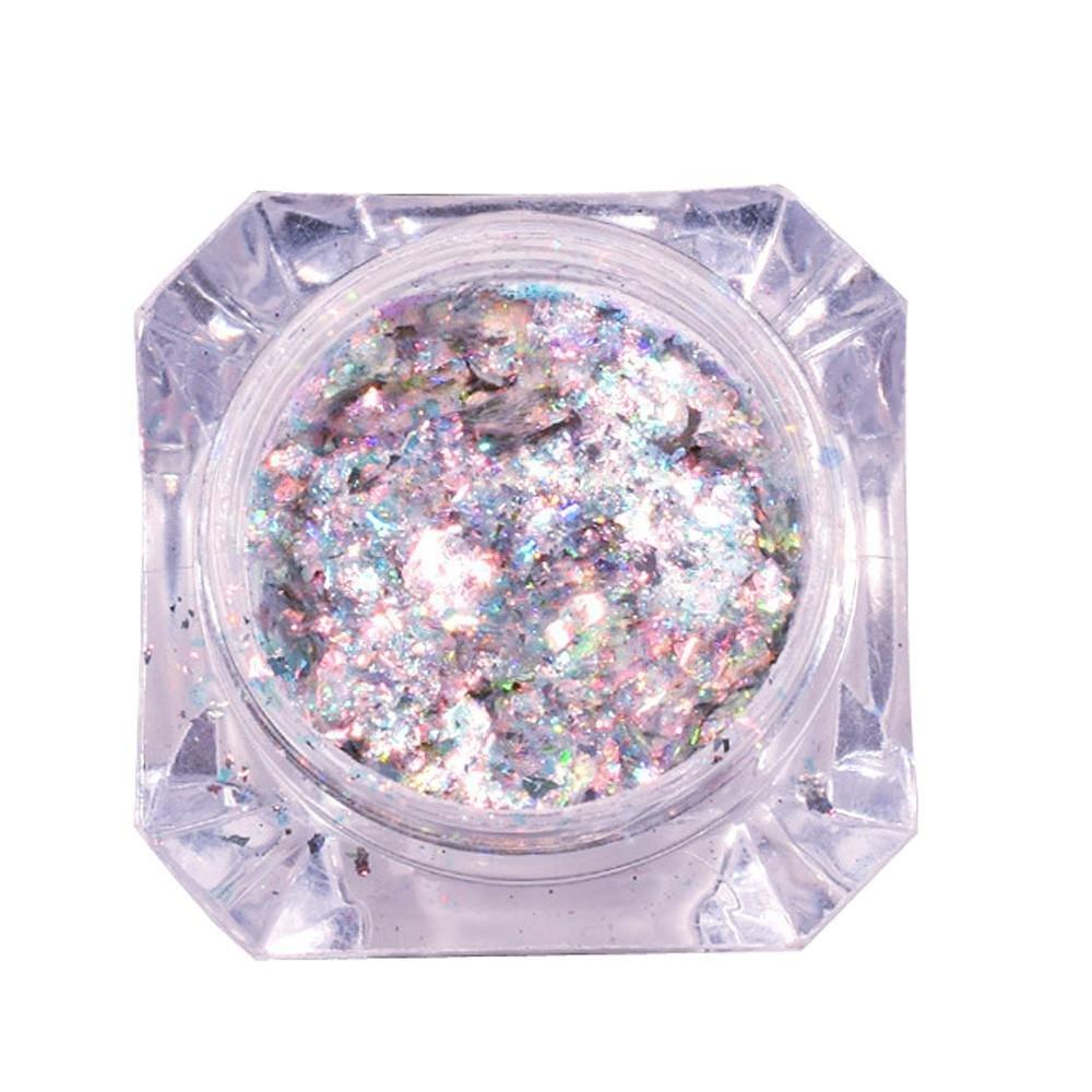 Nail Art Glitters, Alonea Mirror Glitter Aluminum Flakes Magic Mirror Effect Powders Sequins Nail DIY Decoration Tips (B)