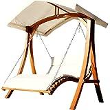 Design Hollywoodschaukel Gartenschaukel Hollywoodliege Doppelliege Aus Holz  Lärche Mit Dach Modell: U0027ARUBAu0027 Von