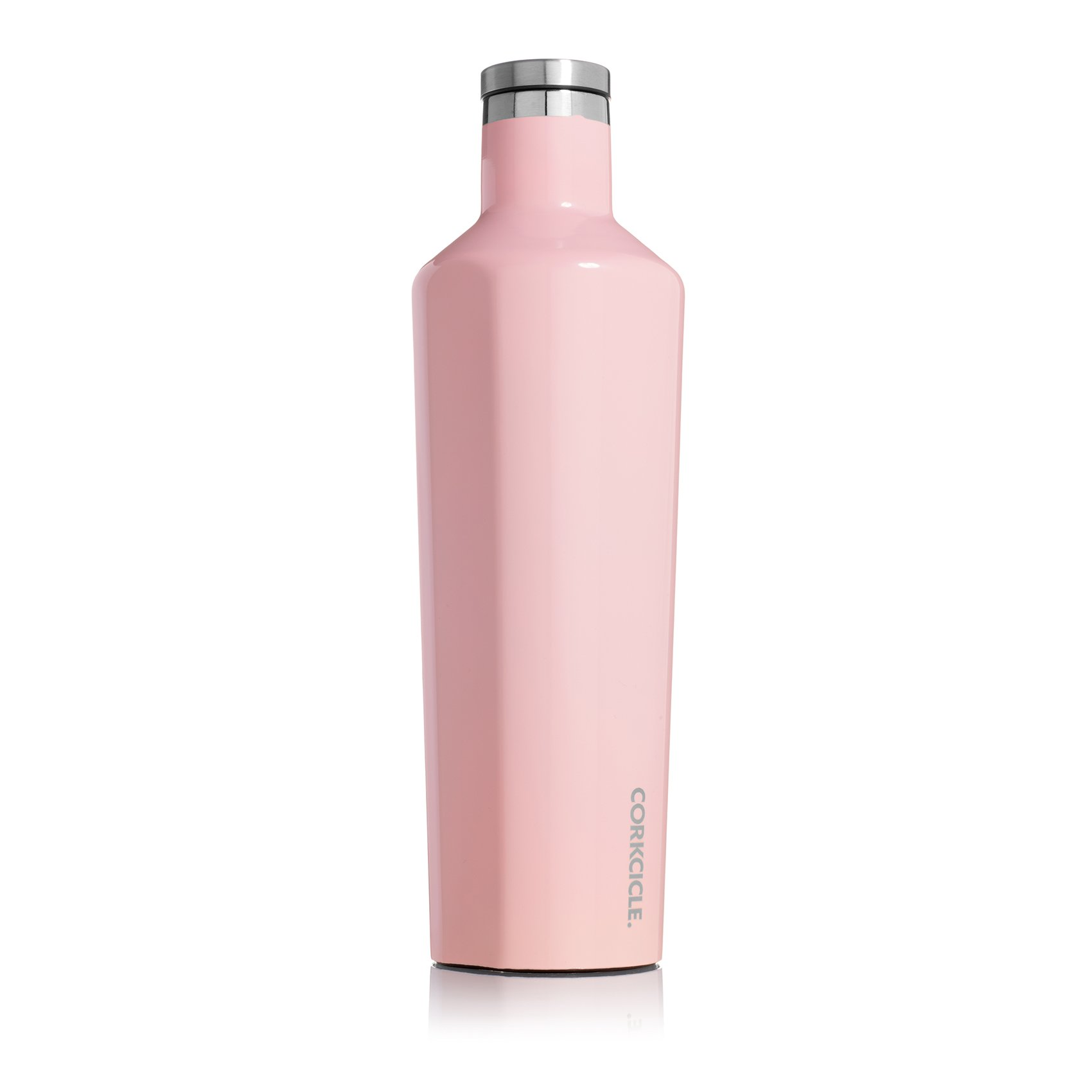 Corkcicle Canteen Classic Collection-Water Bottle /& Thermos-Triple Insulated Shatterproof Stainless Steel Gloss Rose Quartz 25 oz