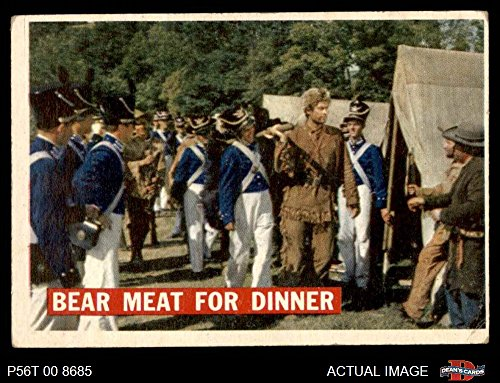 1956 Topps Davy Crockett Orange Back # 5 Bear Meat For Dinner (Card) Dean's Cards 4 - VG/EX 3052771