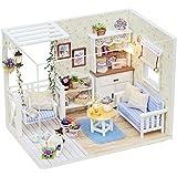 KKmoon Dollhouse em miniatura com móveis DIY Dollhouse Wooden Kit Mini House Gifts for Kids
