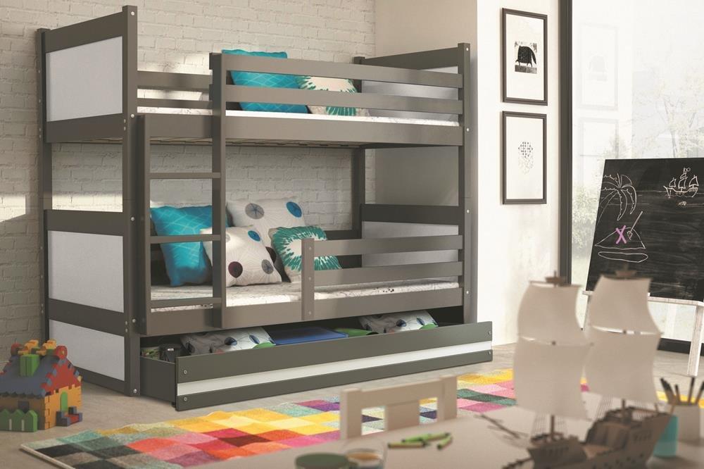 Etagenbett Interbeds : Interbeds etagenbett rico cm farbe grau mit
