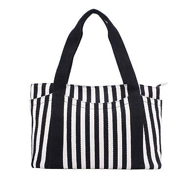674eb432b364 Canvas Tote Bag with Multiple Pocket/Zipper Closure Sholuder Bag/Travel Bag  for Weekend/7 Pocket/Perfect Bag for Gift