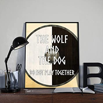 photograph regarding Printable Vikings Schedule named : lagifi Vikings Quotation Artwork Print The Wolf and The