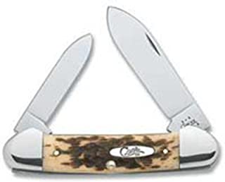 product image for Case Knives Amber Bone Canoe Pocket Knife