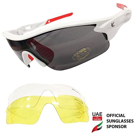 115 opinioni per VeloChampion Warp Cycling Running Sports Sunglasses- (with 3 lens: inc smoked,