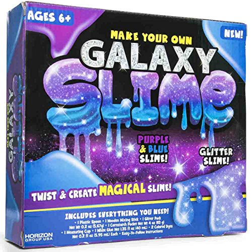 Make Your Own Galaxy Slime! Purple And Blue Glitter Slime! I
