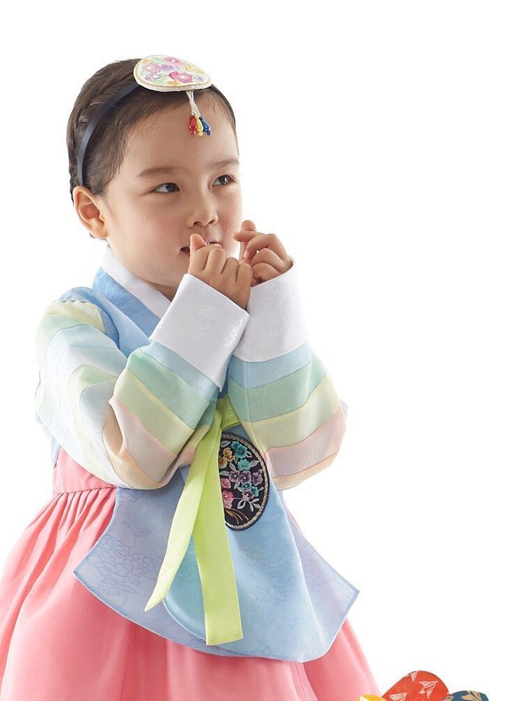 Korean Traditional Costume Hanbok Dress One Year birthday Thankgivingday Happy New Year Chuseok