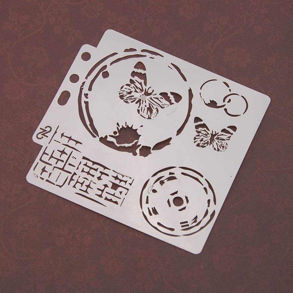 tarjeta de /álbum Haven Shop Plantillas de bricolaje plantillas de mariposa /álbumes de recortes plantilla de pintura estampado